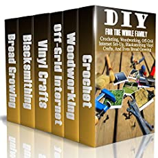 DIY For The Whole Family:Crocheting, Woodworking, Off-Grid Internet Set-Up, Vinyl Crafts, Blacksmithing And Even Bread GrowingIn this book we describe different ways that you can improve your life and your home with just a few flourishes of the imagi...