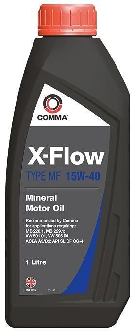 Comma XFMF1L X-Flow MF - Aceite Mineral de Motor 15W40 (1 litro ...