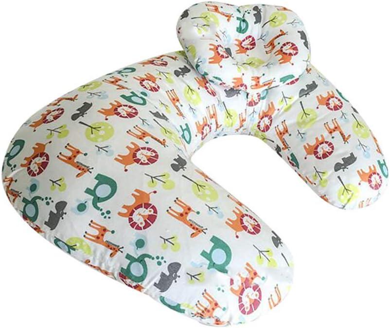 Style25, 56 * 37cm+20 * 17cm Mengmiao Nursing Pillow Breastfeeding Multifunctional Pillow Adjustable Feeding Pillow with Detachable Headrest