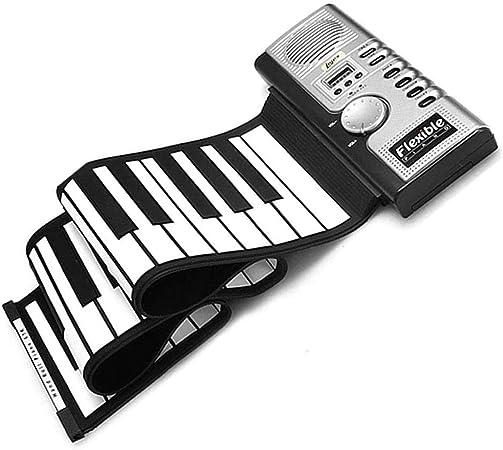 Lychee portátil 61 llaves rueda para arriba flexible suave piano MIDI del teclado plegable Electronic Piano Instrumentos Musicales