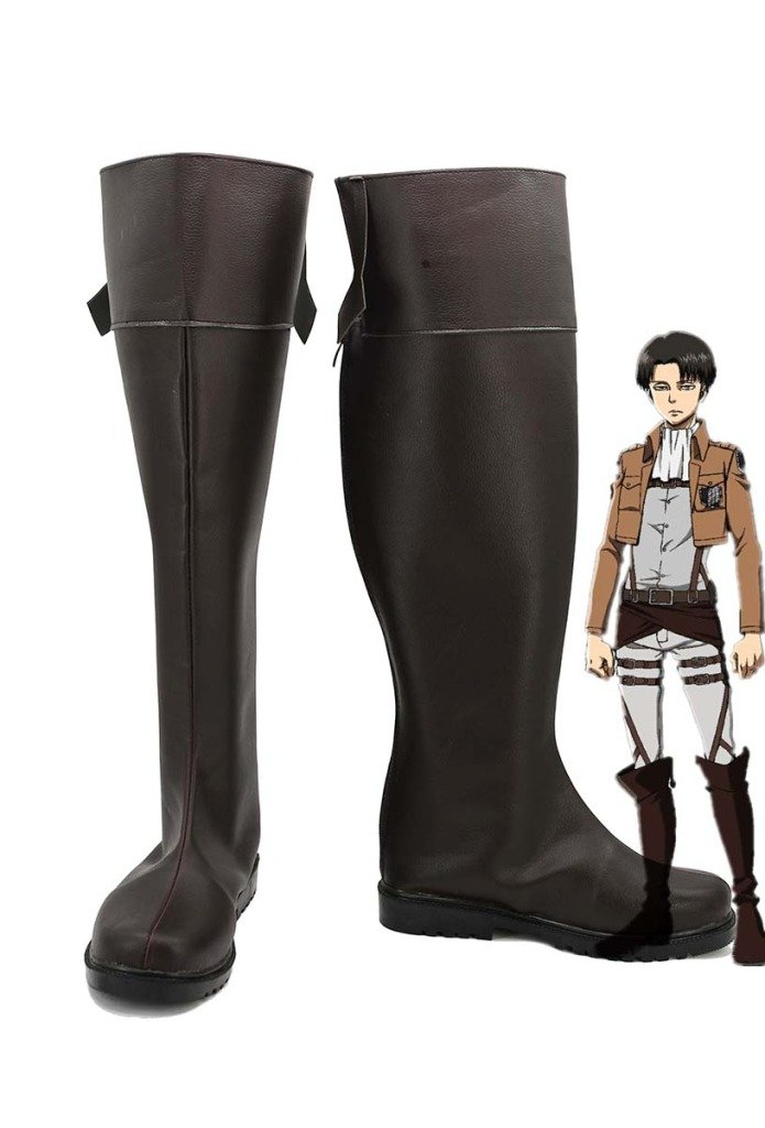Attack on Titan Shingeki No Kyojin Anime Levi Cosplay Shoes Boots Custom Made 7.5 B(M) US Female