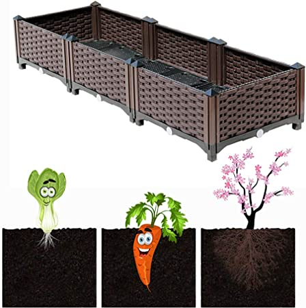 Cjswt Planter Raised Beds Plastic Elevated Raised Garden Bed Kits Elevated Planter Garden Box For Vegetable Flower Herb Outdoor Standing Planter Bed Amazon Co Uk Kitchen Home