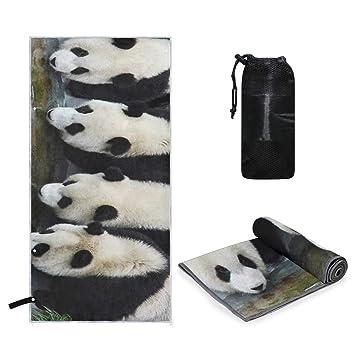 Rachel Dora Toalla de Microfibra Blanca con diseño de Panda ...