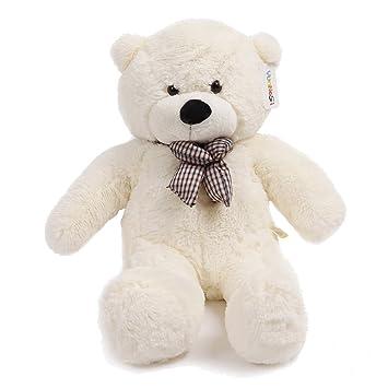 YunNasi suave Teddy oso gigante de peluche juguete de felpa 100 cm blanco