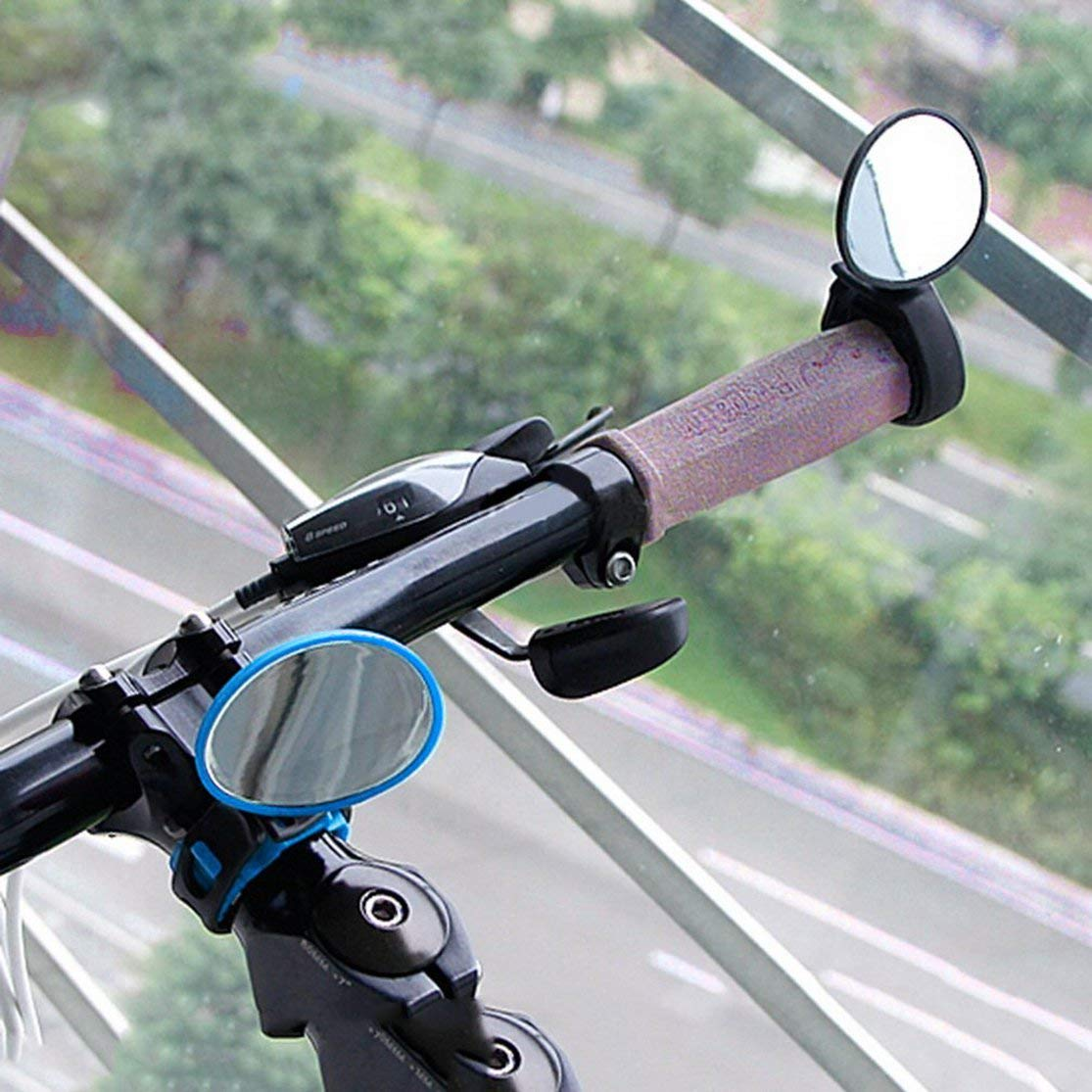 Color:Black Kaemma Bicicleta Bicicleta Ciclismo Universal Ajustable Vista Posterior Espejo Manillar Retrovisor Accesorios para Bicicletas Seguridad Flexible Retrovisor