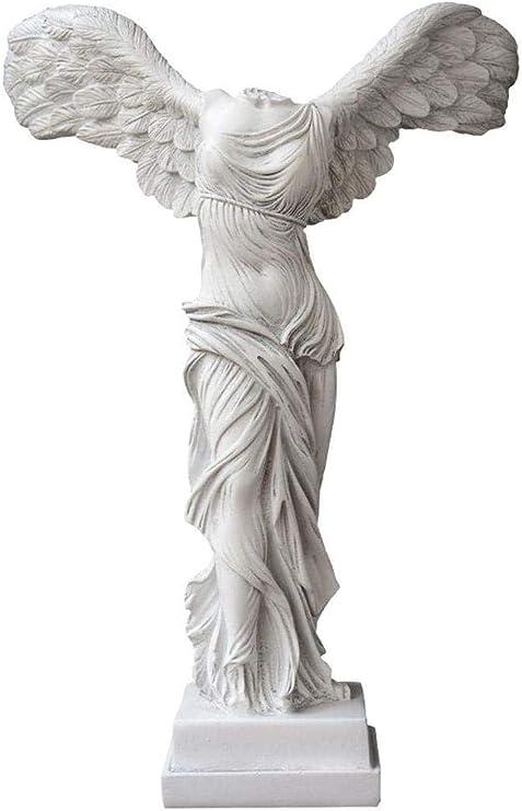Estatuas para jardín Personaje Estatua Resina Artesanía Diosa de la Victoria Figura Decoración del jardín Escultura Decoración de la casa Adecuado para Sala de Estar Dormitorio (28 x 18 x 39 cm):