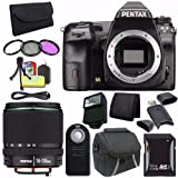 Pentax K-3 II DSLR Camera (Body Only) + SMC DA 18-135mm F/3.5-5.6 ED AL (IF) DC WR Lens + 32GB SDHC Card + Filter Kit + Case + External Flash + Wireless Remote + Mini HDMI Cable Saver Bundle