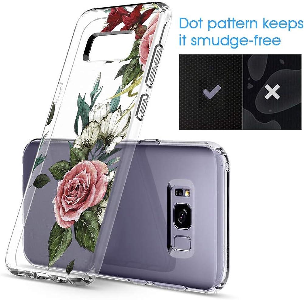 Marmor /& Blume Riyeri H/ülle Compatible with Samsung Galaxy S8 H/ülle Klar Slim TPU Silikon Bumper Handyh/ülle f/ür Samsung S8 Plus