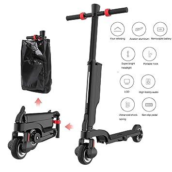 TIANQING Mini Scooter eléctrico Plegable, Bicicleta ...