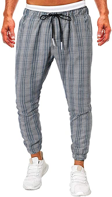 Vectry Pantalones Hombre Moda Hombre Casual Solid Suelto Patchwork ...