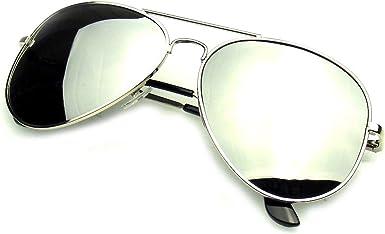 Emblem Eyewear - Completo Espejo Aviador Plata Gafas Polarizadas ...