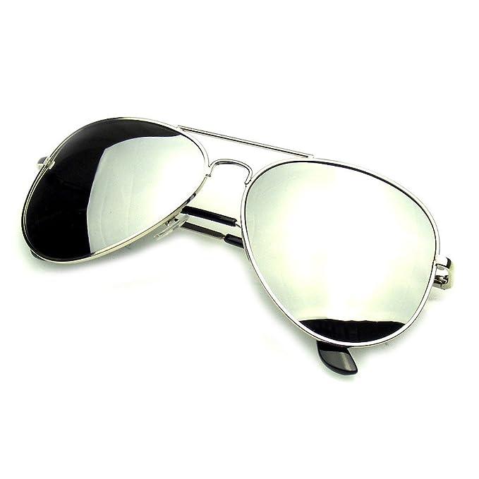 Gafas de sol de la marca Emblem Eyewear, completamente espejados, polarizados, diseño de aviador