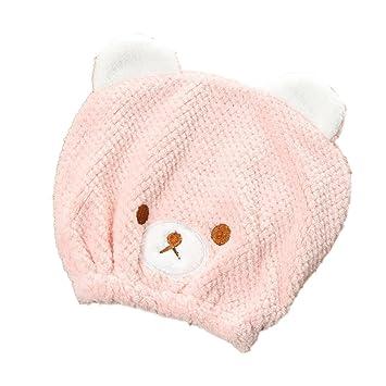 Amazon Com Hair Drying Towel For Kids Girls Cute Cartoon Bear