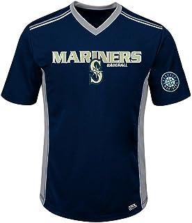 e63c20f1 VF Seattle Mariners MLB Mens Cool Base Performance V Neck Jersey Navy Blue  Big Sizes