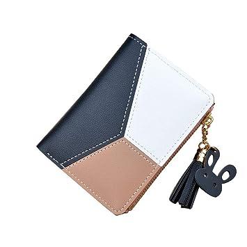 41103bdf2ced Quner Women Small Wallet Lady Mini Purse Bifold Leather Short Wallet ...