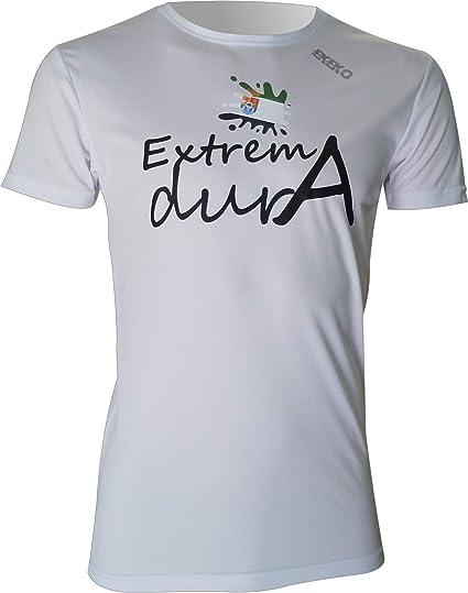 Ekeko EXTREMADURA, camiseta hombre manga corta, para running, atletismo y deportes en general, muy transpirable y ligera (M): Amazon.es: Deportes y aire libre
