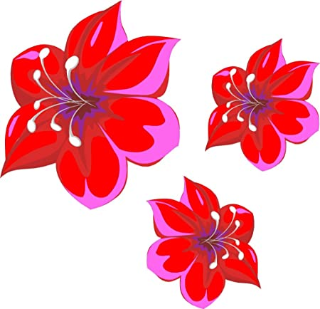 Lightningsigns red and pink flower stickers car wall art laptop lightningsigns red and pink flower stickers car wall art laptop mightylinksfo