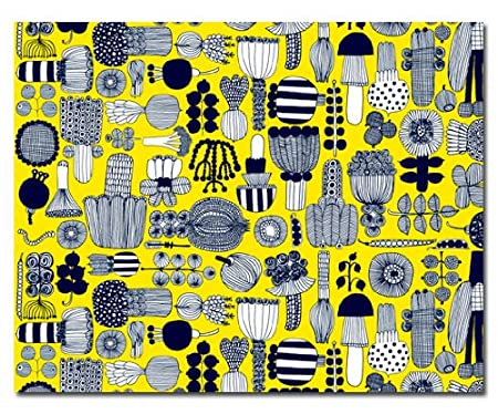 Handmade Contemporary Marimekko Fabric Wall Hanging \'Puutarhurin ...