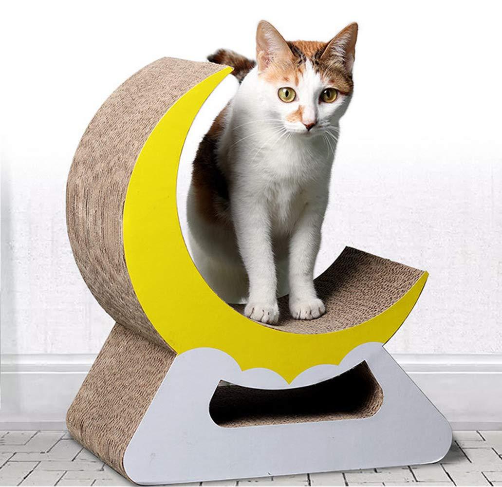 Petcheer Cat Scratch Board Claw Claw Plate Corrugated Claw Board Moon Type Corrugated Paper Cat Scratch Board