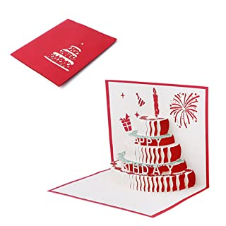 Vivianu, biglietto di auguri pop-up 3D, fatto a mano, per compleanno, San Valentino, festa della mamma, inviti di matrimonio