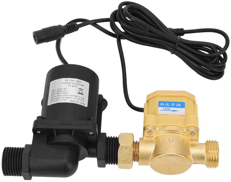 24V JT-800D-24 Motor de CC Sin Escobillas Bomba de Agua Con Interruptor de Flujo g1/2in Cabezal de descarga de 7 Metros