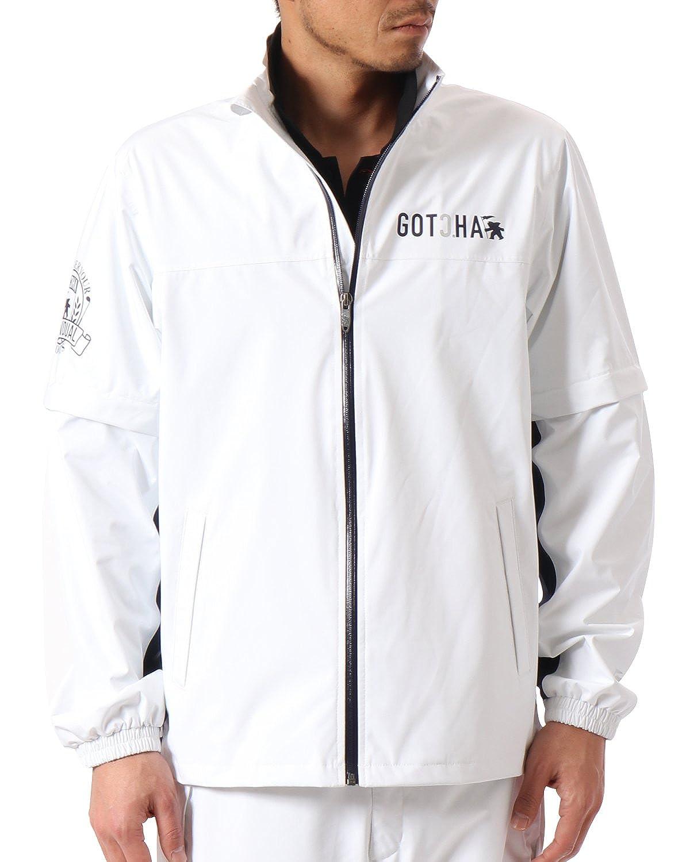 (ガッチャ ゴルフ) GOTCHA GOLF レイン ジャケット 99GG1602 ホワイト Lサイズ   B07B7GMH8H