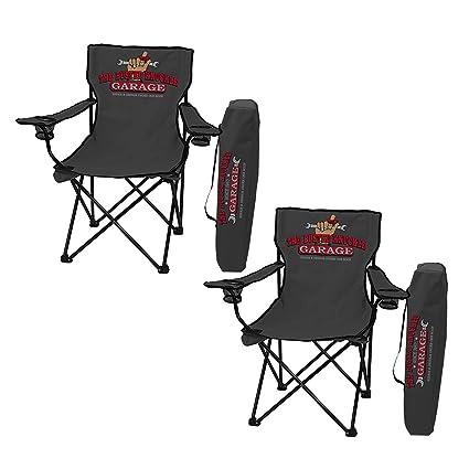 Amazon.com: Juego de 2 sillas plegables para garaje de ...