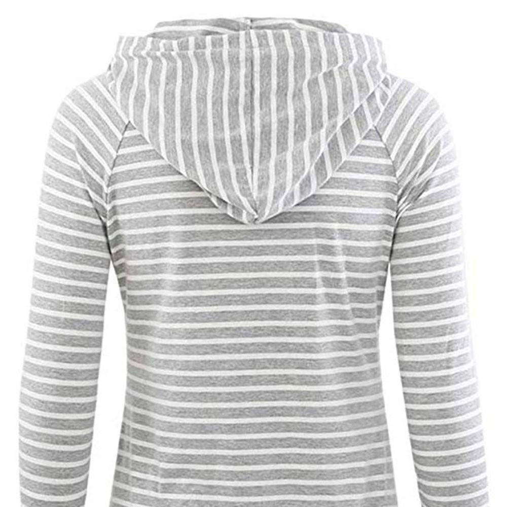 2019 Umstandstop Schwangere Sweatshirts Langarmshirt Herbst Winter Warm Gestreift Hoodie Stillpullover Umstandsshirt Stilltop Amcool Umstandsmode Damen