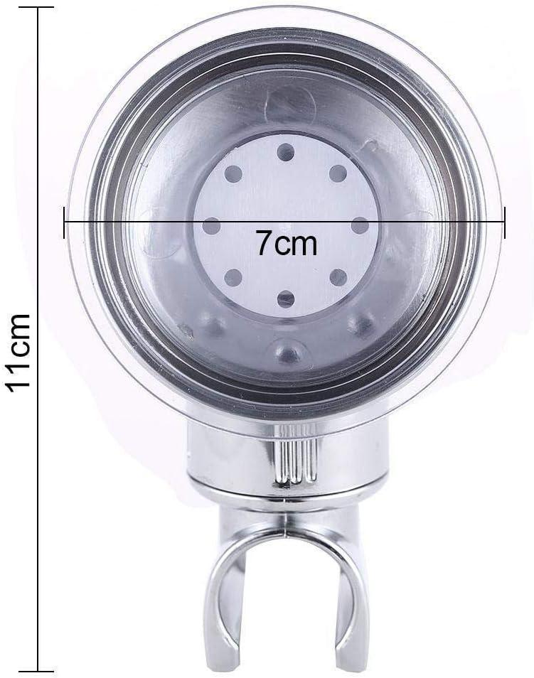 XGao Adjustable Shower Head Holder Adhesive Bathroom Suction Cup Handheld Shower Head Holder Wall Mount Bracket Abs Plastic with Polished Chrome Coating Bathroom Shower Showerhead