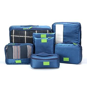 Szsmart 7 PCS Organizador de Equipaje Impermeable Organizador de Maleta Ideales para Bolsos de Viaje Maletas y Mochilas: Amazon.es: Equipaje