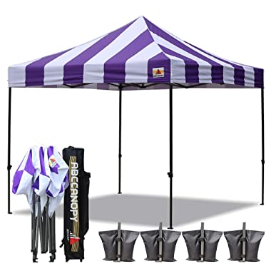 ABCCANOPY Deluxe 10x10 Easy Pop Up Canopy Carnival Canopy Popcorn Cotton Candy Vending Tent