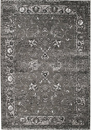 NEW Venice Grey Washed Out Distressed Vintage Retro style Area Rug carpet 4'x6' Area Rug (actual size is 3'8