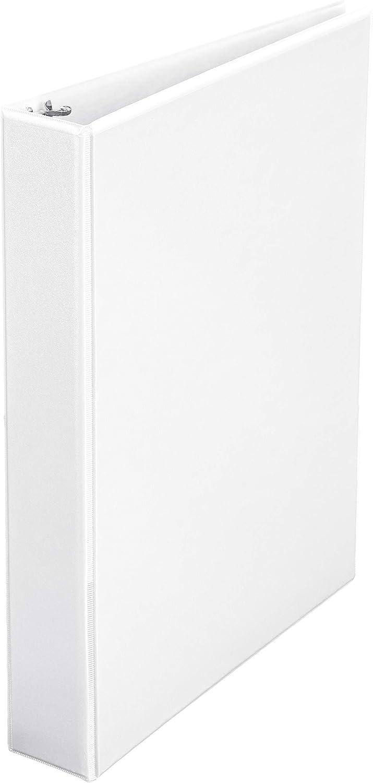 AmazonBasics 1.5-Inch Round Ring Binder, White, View, 4-Pack