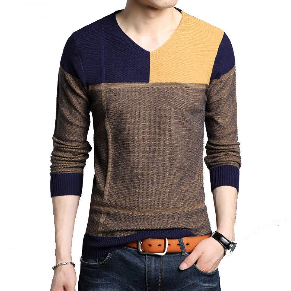 FEIDAO Männer Pullover Winter Pullover Männer Casual Männlich Pullover Slim Fit V-Ausschnitt Pull Homme Männer Kleidung