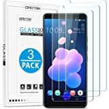 [3 Pack] HTC U12 Plus / U12 + Screen Protector, OMOTON Tempered Glass Screen Protector with [9H Hardness] [Crystal Clear] [Anti-Scratch] [Bubble-Free Installation] for HTC U12+ / U12 Plus [6.0 inch]