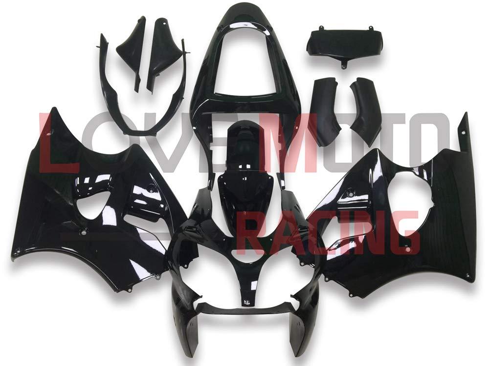 LoveMoto Car/énages pour ZX6R ZX-6R 2000 2001 2002 00 01 02 Ninja 636 ZX6R Jeux de car/énages moto en plastique ABS moul/é par injection Noir