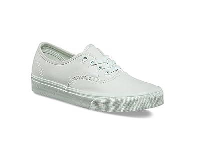 508ac7509d46 Vans Kids Authentic (Mono Canvas) Milky Green Skateboarding Shoes (12.5)