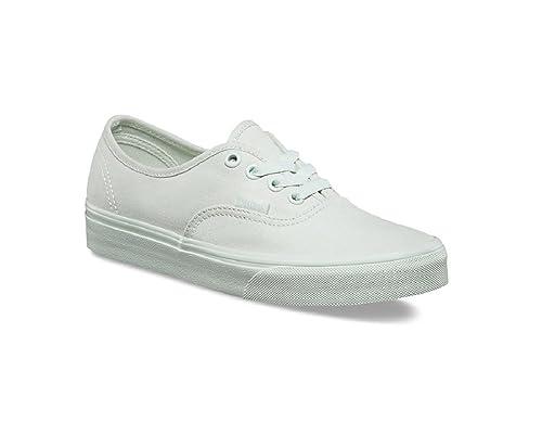 3de920cfbb Vans Kid's Authentic (Mono Canvas) Milky Green Skateboarding Shoes  VN0A38H3OXV