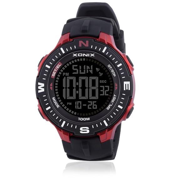 Deportes de múltiples funciones de los hombres reloj digital,Led al aire libre fresco 100
