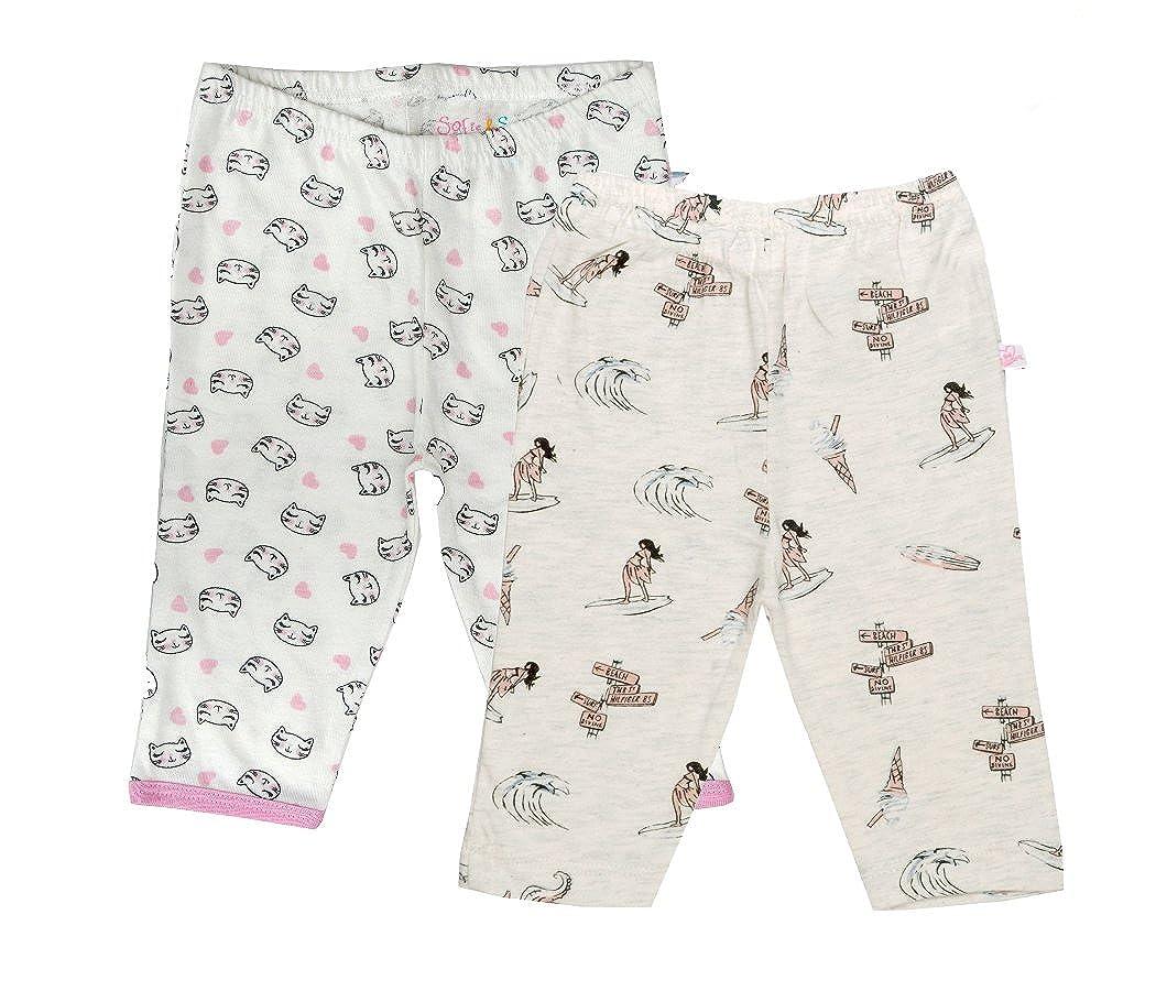 Sofie & Sam Bio-Baumwolle 2er Pack Combo 6-9 Monate Baby Schlafanzug Hosen Pajama BPCPRN020609M0048