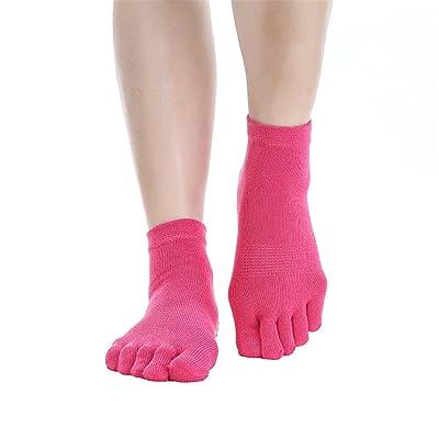 Women Cotton Yoga Socks Full Toe Anti-skid Breathable Pilates Barre Socks(5 Pairs or 1 Pair)