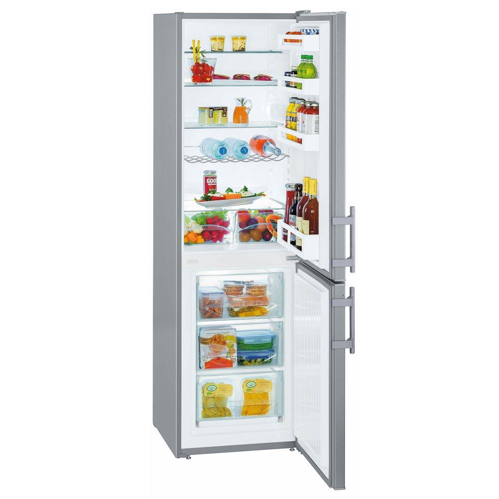 Liebherr CUef3311 Freestanding SmartFrost 294 litre Silver Fridge Freezer with CoolPlus and VarioSpace Function, Automatic Defrosting, Reversible Door, 55cm Width