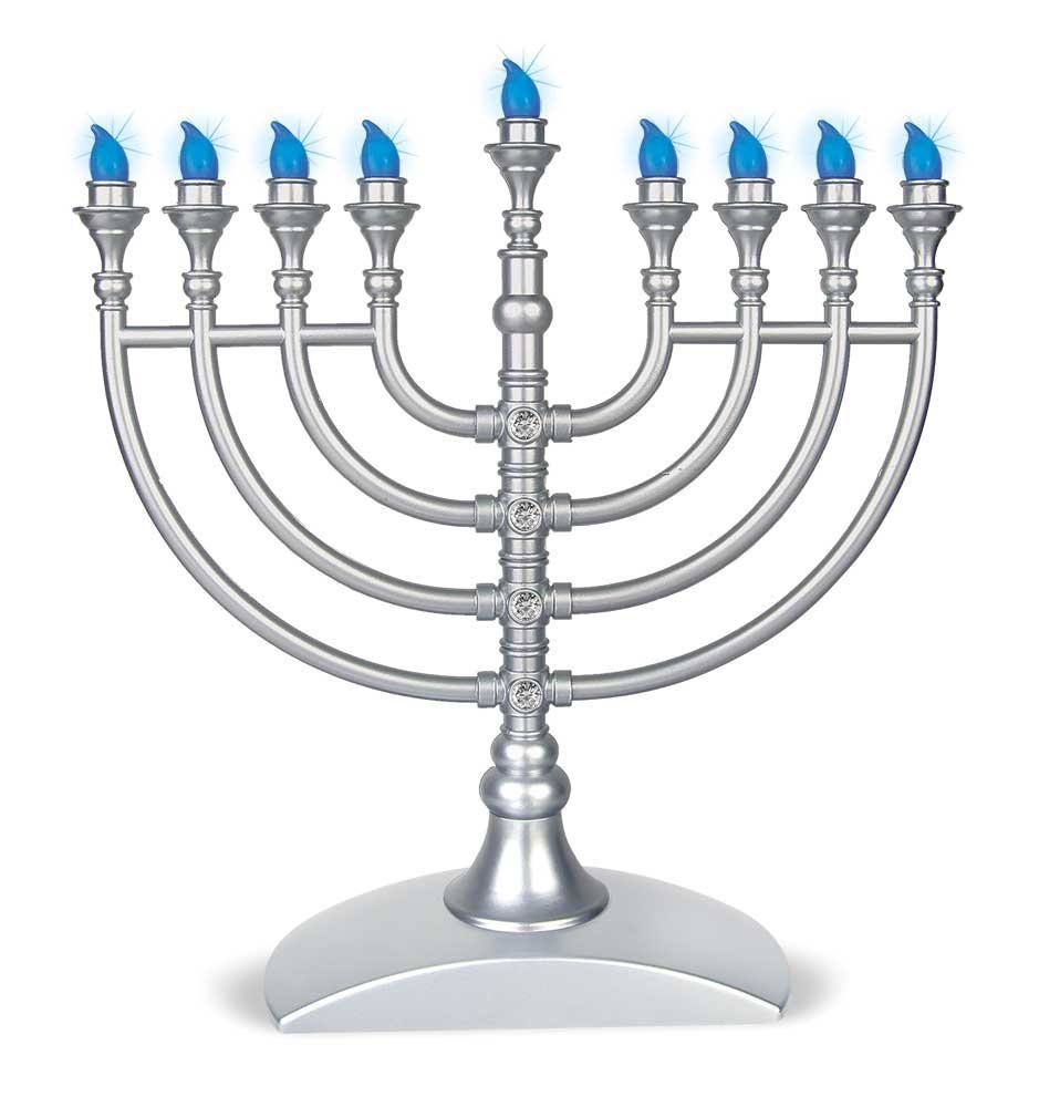 LED Battery Operated Menorah Zion Judaica Ltd