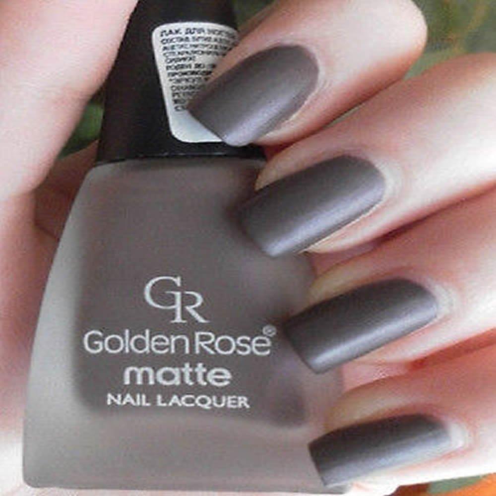 Amazon.com : Golden Rose Matte Nail Polish - 03 Falu Red : Beauty