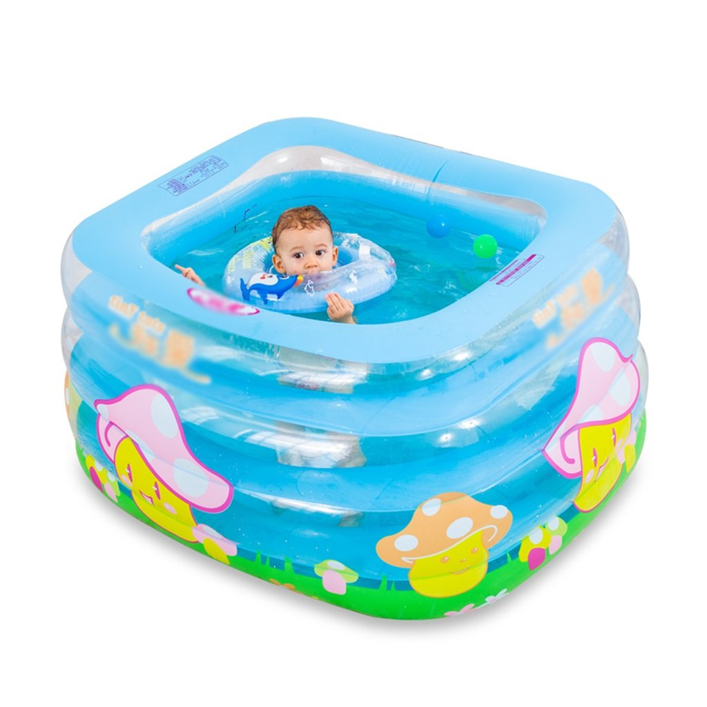 Bathtubs Freestanding Baby Pool Infant Baby Baby Pool Paddle Pool Newborn Baby (115 100 70cm) (Size : Foot Pump)