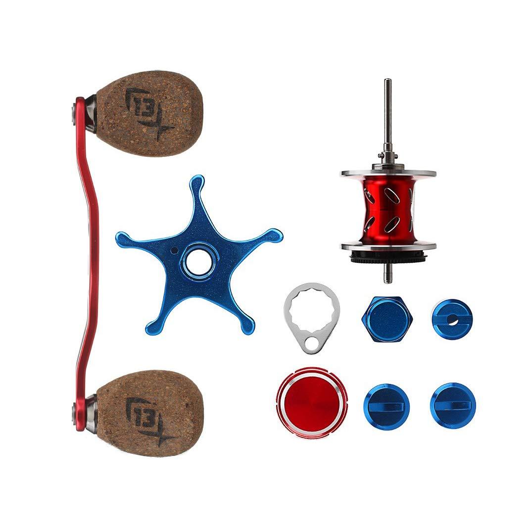 13 Fishing Patriot Reel Kit, Red/Silver/Blue リール 141[並行輸入]   B010DEPS4U