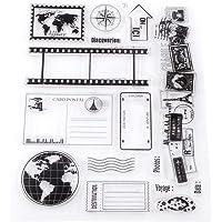 Sellos de silicona transparente, sello de goma 14x18cm Sellos de silicona estampado de tarjetas de Scrapbook Photo