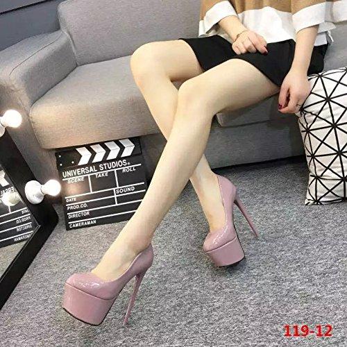 tacones 119 con de Zapatos 16 polvo 12 finos desnuda super en tacon XiaoGao cm qz60nBTw