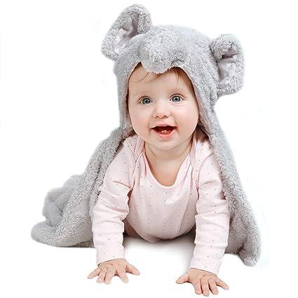 lictin Toalla con capucha bebé toalla toalla para bebé suave y Super absorbente para bebé recién