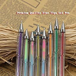 Tanmit 60 Color Gel Pens Art Set for Adults Coloring Book - Gel Colored Pen Office Set for Sketching,Drawing,Calligraphy,Writing